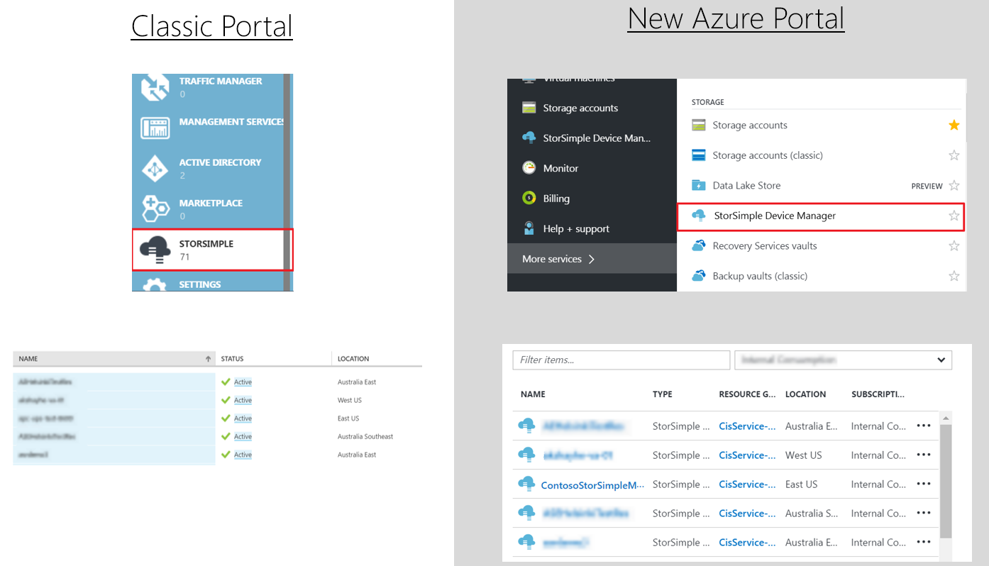 Azure StorSimple Device Manager