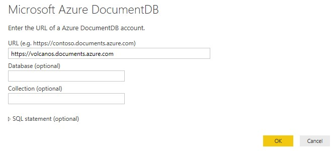 DocumentDB Power BI Connector