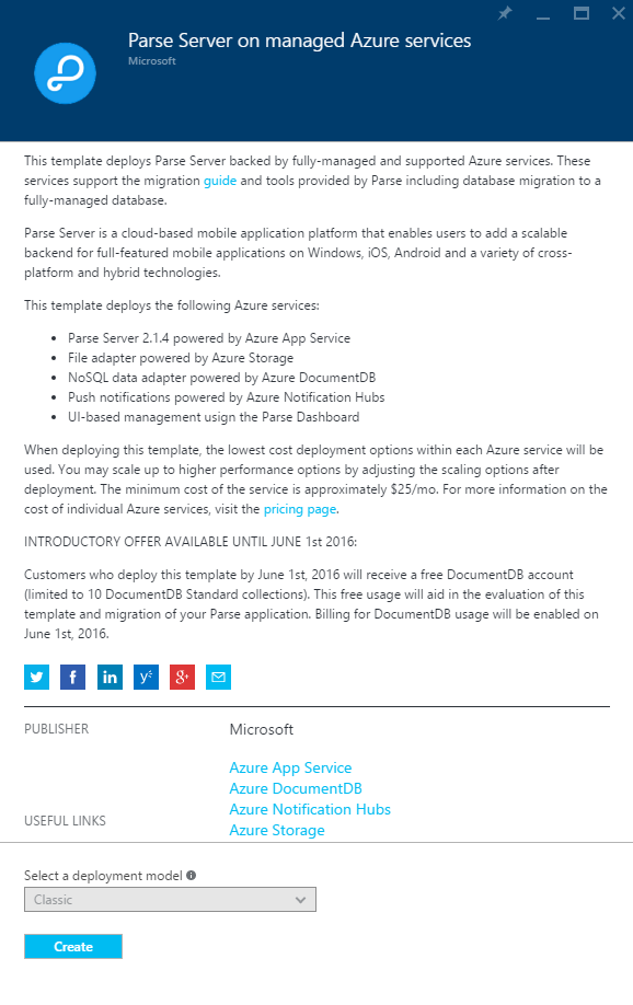Announcing the publication of Parse Server with Azure Managed ...