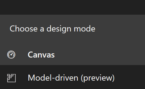 Canvas Navigation Pane has Design Mode switcher expanded image