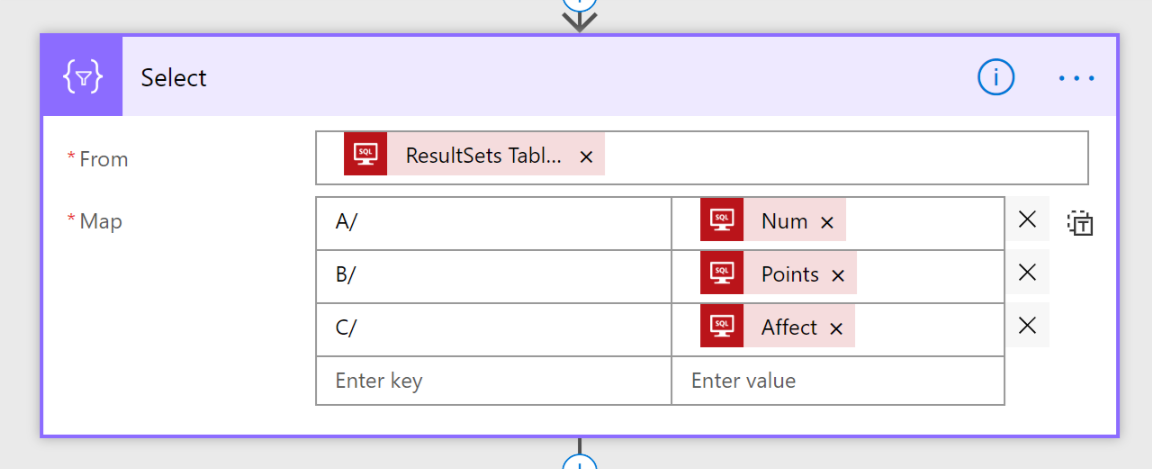 Return an array from a SQL Stored Procedure to PowerApps (Split Method)