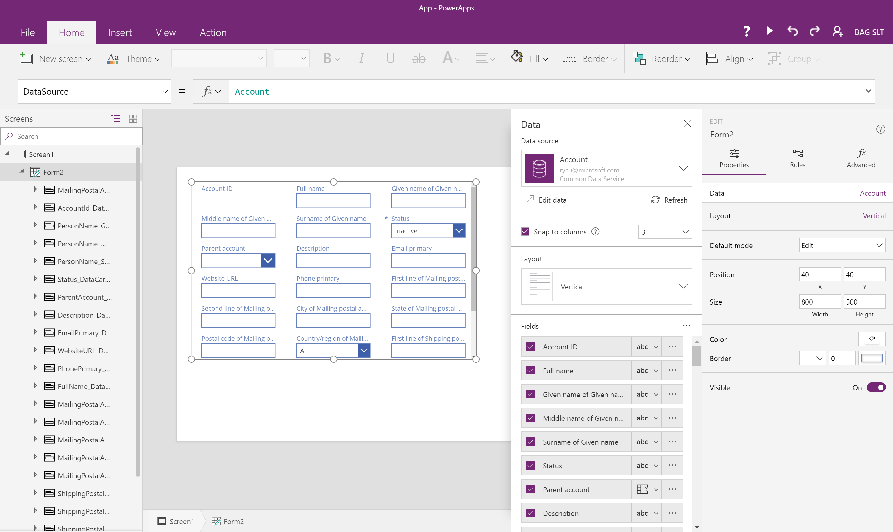 New on PowerApps: easily create rules, configure forms and galleries